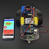 REES52 Voice Controlled Robot Car Using L298N Motor Driver Module and HC-05 Bluetooth Module Interfacing Arduino Uno with Step by Step Instruction Manual - KT729