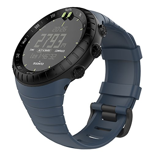 "MoKo Suunto CORE Watch Cinturino, Braccialetto di Ricambio in TPU Morbido con Gancio Metallico per Suunto CORE Smart Watch, per Polso 5.51""-9.06"" (140mm-230mm), Blu Notte"