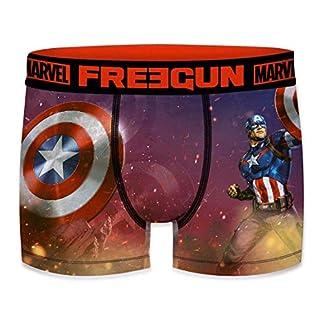 FREEGUN Bóxer para Hombre Marvel Avengers Captain America 🎯