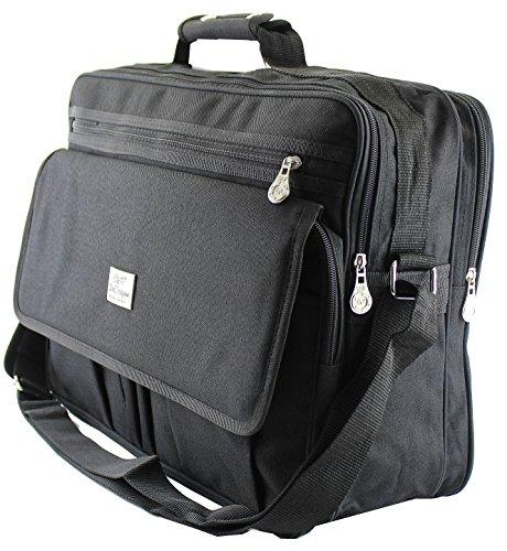XXL und kleiner Schultertasche Aktentasche Flugbegleiter Laptop Umhängetasche Business Messenger Bag Notebook Tasche Black SchwarzNEU (Modell 2)