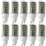 XXIONG Aoxdi 10x GU10 9W LED Mais Leuchtmittel Birnen, Warmweiß, GU10 LED 9W Mais Licht Lampen 96 SMD 4014 Energiespar Lampe, AC220-240V