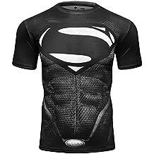 Cody Lundin impresa fitness de camisetas de superhéroes logo hombres manga corta slim camiseta masculina del deporte