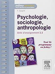 Psychologie, sociologie, anthropologie - UE 1.1