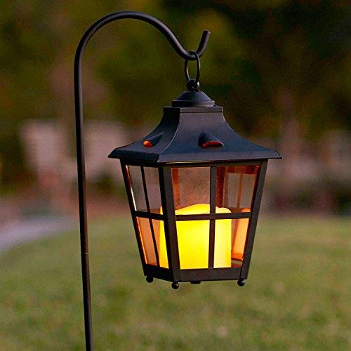 Gartenlaterne mit LED Kerze Batteriebetrieb Lights4fun