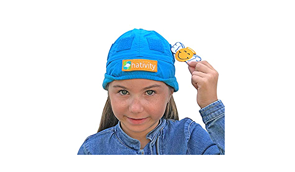 Warm Fleece Lined with Earflaps InspiraSpark Hativity Kids Boy Girl Best Interactive Winter Hat Patches Sold Separately