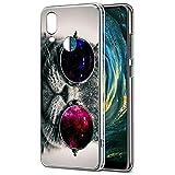 Eouine Funda Huawei P20 Lite, Cárcasa Silicona 3D Transparente con Dibujos Diseño Suave Gel TPU [Antigolpes] de Protector Bumper Case Cover Fundas para Movil Huawei P20 Lite 2018-5.84 Puldagas (Gato)