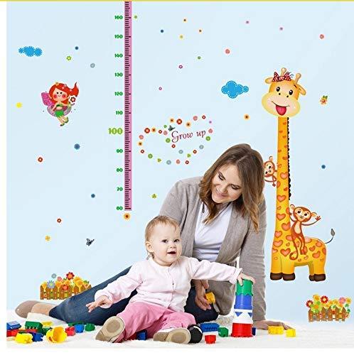 Papier peint autocollant mural Belle Girafe Singe Grandir Hauteur Mesure Règle Pépinière Enfant Enfants Décor De Jardin d'enfants Stickers Muraux Amovibles Stickers Muraux pour stickers muraux décorat