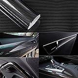 YAOBLUESEA Rotoli Pellicola Adesiva 5D Carbonio Adesiva Foglio Nero Wrapping 152x50cm