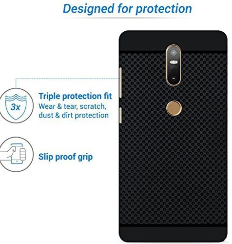 new arrival 05dc4 11f68 Hello Zone Exclusive Premium Quality Dotted Matte Finish Soft Rubberised  Back Case Cover For Lenovo Phab 2 Plus (6.4 Inched) - Black