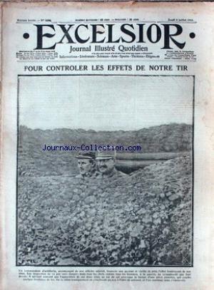 EXCELSIOR [No 1696] du 08/07/1915 - POUR CONTROLER LES EFFETS DE NOTRE TIR ECHOS ILLUSTRES - LE PRINCE STCHERBATOFF - LES ECOLIERS ET L'EPARGNE - POUR LES BLESSES DE LESMINGTON - LE CHAMEAU DEBARQUE AUX DARDANELLES