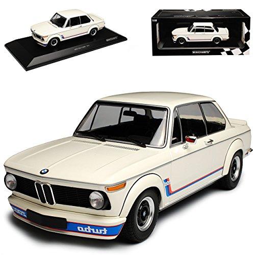 Unbekannt B-M-W 2002 Turbo Weiss 1973-1974 1/18 Minichamps Modell Auto (Bmw 2002 Modellauto)