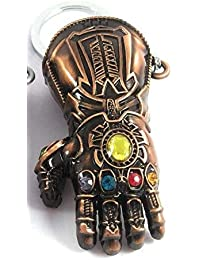 RJM Avengers Infinity War -3 New Series Thanos Gauntlet Power Stone Marvel Metal Keychain | Key Ring For Car Bike...
