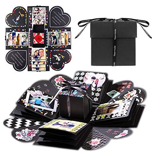 TOPHOPE Explosions-Box, Kreative Überraschung Box DIY Faltendes Fotoalbum, Gedenkalben, Geburtstagsgeschenke, Partygeschenke, Geburtstag Jahrestag Valentine Hochzeit Geschenk