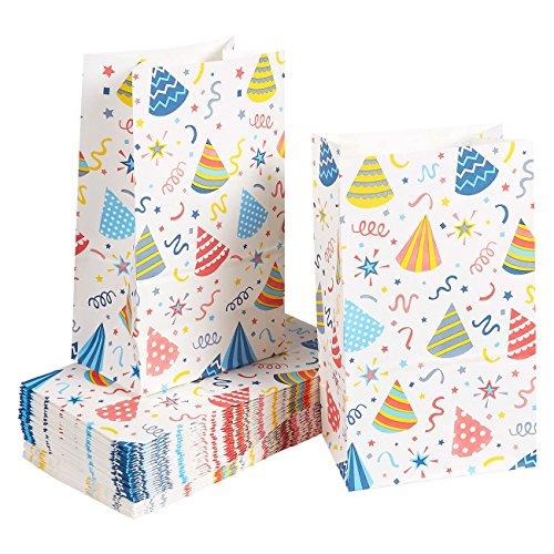 Papiertüten für Kinder - 36 Stück Party Favor Bags für Geburtstagsparty, Leckereien, Klassenzimmer, Party, Recycling-Papier, 13 x 22 x 8 cm
