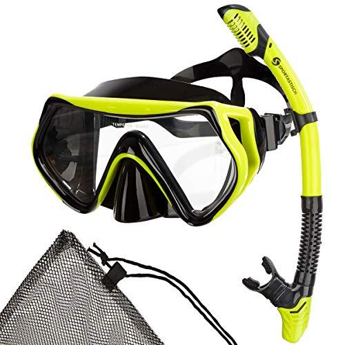 Sportastisch Top Design¹ Schnorchelset Barracuda mit Schnorchel Taucherbrille Beutel, wasserdichte Antibeschlag Tauchmaske für Erwachsene und Kinder, bis zu 3 Jahren Garantie² (vollgesichtsmaske)