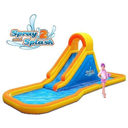 Blast Zone GE-SNS2 Spray N Splash 2 Inflatable Water Park Slide