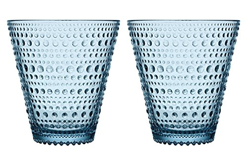 Blu-glas (Iittala Kastehelmi 30 cl Glas, blu chiaro)