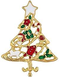 Uniqueen Navidad broches pines para mujeres