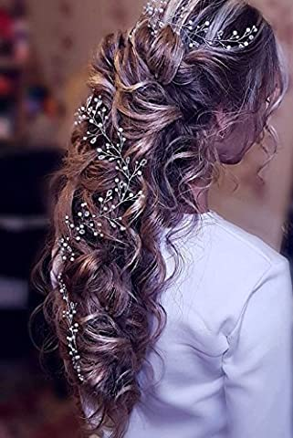 Aukmla Cheveux Vigne Extra long pour demoiselle d