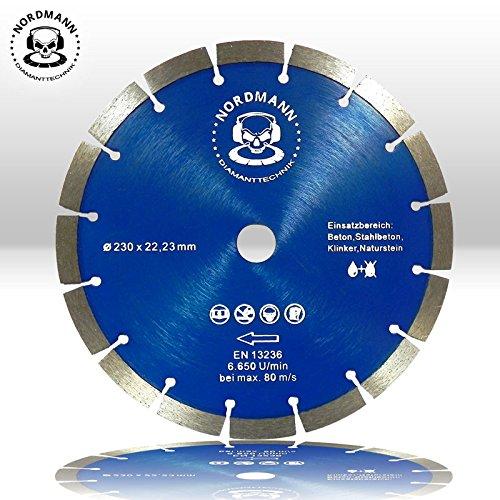 nordmann-power-disco-blocco-oe-230-mm-i-universale-per-granito-calcestruzzo-cemento-armato-arenaria-