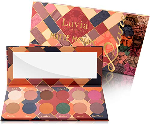 Luvia Lidschatten Palette - Matte Mosaic Make-Up - Inkl. 12 einzigartigen matten Farben - Limitierte...