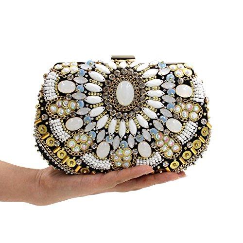 WYB Wulstige Diamant Abendtasche / Kupplung / Luxus-Top / Heavy gems Abendtasche / Brautbeutel style 3