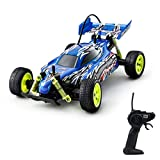 PTL® Fast Remote Control Car - Racing RC Buggy Kids Toys for Boys Girls, 1:18 12kph Electric Radio Controlled with Racing Tyres for On Off Road Play Indoors or Outdoors 27Mhz Blue