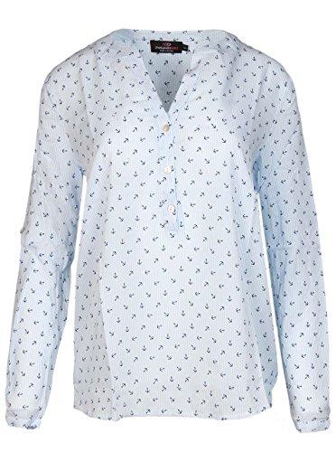 Zwillingsherz Bluse mit Anker und Streifen Muster - Hochwertiges Oberteil für Damen Mädchen - Langarmshirt Top - T-Shirt - Pullover - Sweatshirt - Hemd für Sommer Herbst und Winter von Bla (Cashmere Streifen-pullover)