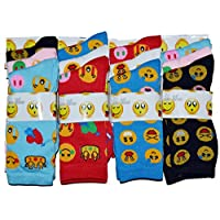 New Women Emoji Socks Icons Cartoon Colour Ladies Girls Design Socks UK4-7