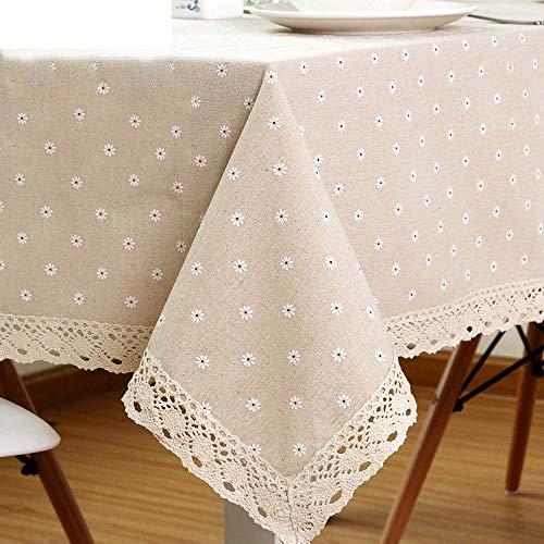 WXQQ Tischdecke abwaschbare Tischdecke pflegeleicht für Schmutz, eine Vielzahl von Farben und Größen zur Auswahl Linen cotton Yellow 140x140cm -