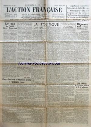 Henri Pozzi - ACTION FRANCAISE (L') [No 230] du 18/08/1937
