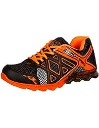 Steemo Men's Black Orange Synthetic Running Shoes (STM-1033) - 10 UK
