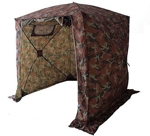 Goutime 2x2 Pavillon Multifunktionales Wasserdichtes pop-up-Zelt,Tragbarer Klappbarer Pavillon,Verwendet Für Camping/Angeln/Rettung usw,Tarnung