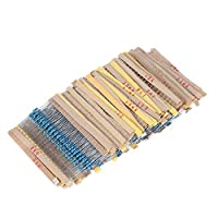 مجموعة متنوعة من 2000 قطعة 1/4 واط 100 قيمة من 1 أوم إلى 1 متر أوم مجموعة متنوعة من المكونات الإلكترونية