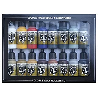 Acrylicos Vallejo Model Air Set - Basic Colors (x16) (VAL71178)