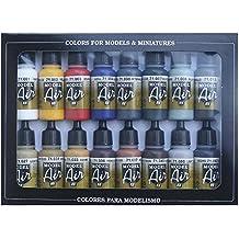 Vallejo Model Air Set - Set de pintura acrílica (16 unidades), multicolor