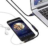 Anschlusskabel Audio sisit Nylon 2in 1Geflochten USB Ladekabel C bis 3,5mm Audio Kopfhörer von Musik Typ C Audio Splitter