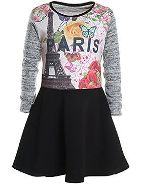 BEZLIT - Vestido - Camisa - Paisley - Cuello redondo - Manga Larga - para niña