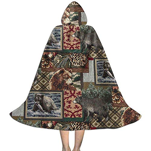 Vampir Kleid Umhang,Hexengewand,Kinder Umhang Hut,Kap Mit Kapuze, Rustikale Weinlese Trägt Fisch Eichel Baum Halloween Kostüm Umhänge (Eichel Kostüm)