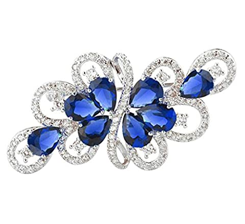 Adisaer Womens White Gold Plated Brooches and