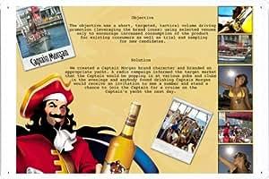 """Enseignes affiche en metal de Rum: CAPTAIN MORGAN 8""""x12"""""""