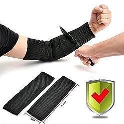 Yosoo 1 Paio Anti-Taglio Manicotto Protettivo per Braccio, Protegge da Tagli, Bruciature e Abrasioni, Taglia Unica, Nero