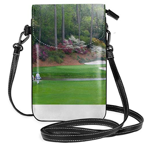 KEHctag Golfs Amen Corner Augusta Georgia Golfers on Bridge Crossbody Purse Cell Phone Purse for Womens,Girls