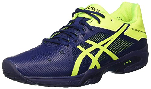 Asics Gel-Solution Speed 3, Scarpe da Tennis Uomo, Blu (Indigo Blue/Safety Yellow), 42 EU