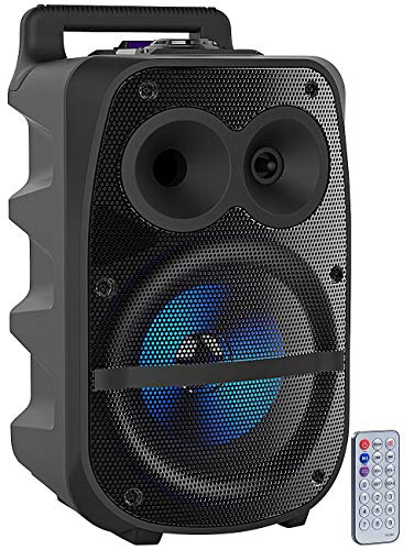 echer: Mobile PA-Partyanlage, Bluetooth, MP3, USB, SD, Karaoke, UKW, 150 Watt (portables Soundsystem) ()