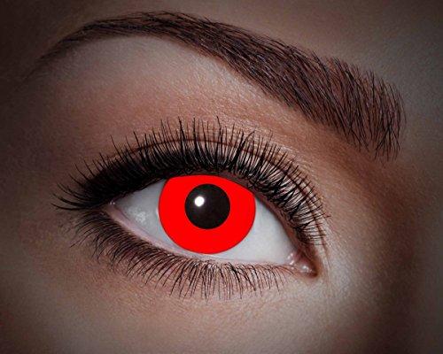 UV-Flash Red, farbige Kontaktlinse, Jahreslinse, 14,5 mm ohne Dioptrin für Party, Club, Nightlife