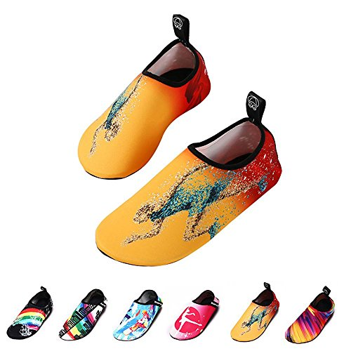 Tennis-schuhe Socke (AOLVO Barefoot WaterSkin Schuhe Fashion Herren Schwimmen Schuhe Quick Dry Trail Running Beach Tennis Schuhe Weich Aqua Socken Langlebig Beach Volleyball Schuhe für Scube Tauchen Surfen Yoga Damen und Herren Jungen Mädchen Running Man Xl)