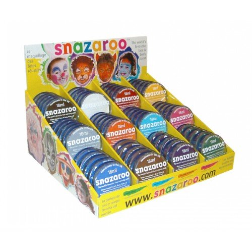 Snazaroo SFP1830 18 ml Unit mit jeweils 5 der Top 12 Standardfarben, One Size Top 12