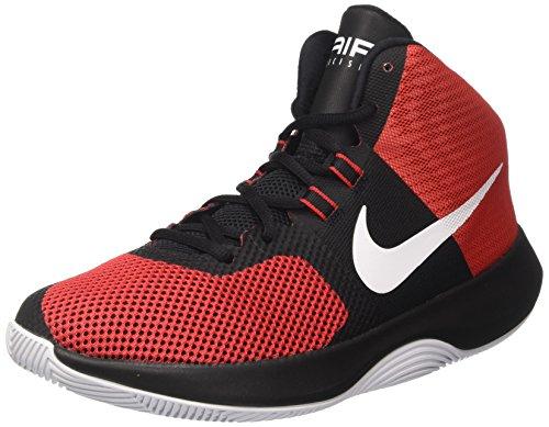 Nike Herren Air Precision Basketballschuhe, Mehrfarbig (University Redwhiteblackdark Grey), 43 EU