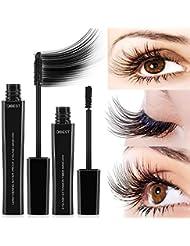 Mascara 4D Eyelash Extension & Lengthening Mascara Water-proof Black Mascara with Natural Fibres